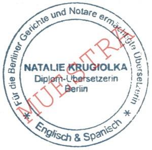 Impresión de sello para la traducción certificada - Sello de traductor jurado